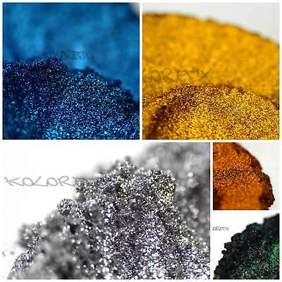 (KolorEFX  AL Metallic Pearl Pigment Plastidip Paint Resin Acrylic Dip Flow Art)