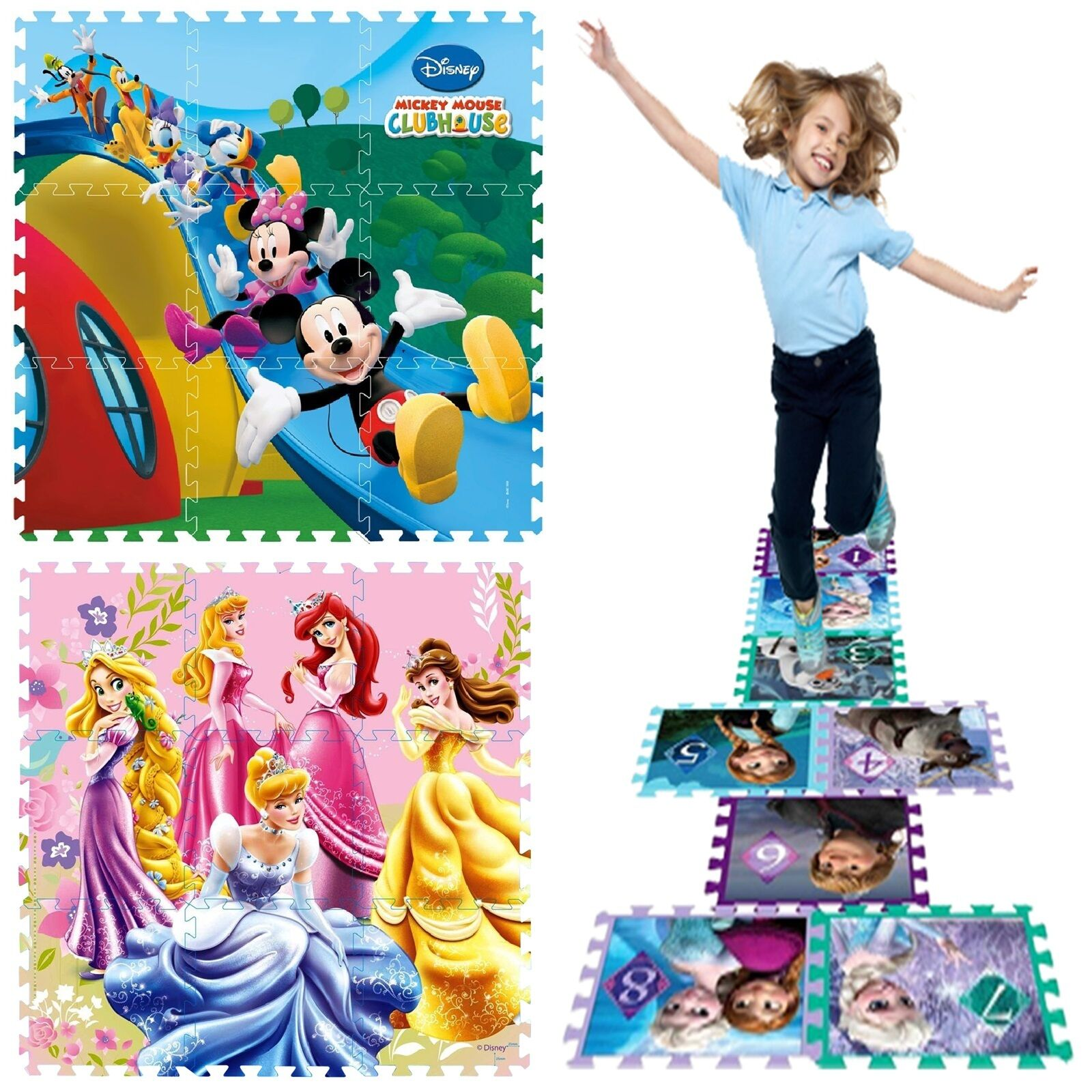 Disney Baby Toddler Kids Interlocking Eva Play Mat Gym