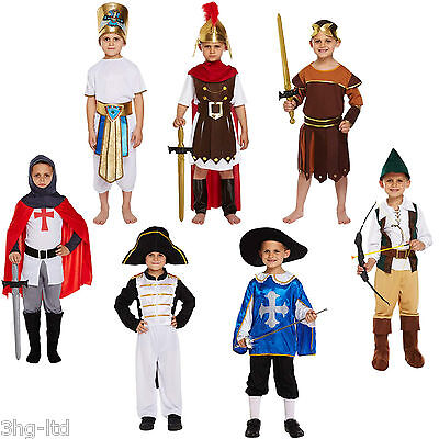 Boy Fancy Dress Up Costume Child Outfit Knight Roman Musketeer Egyptian Age 4-12 (Egyptian Costume)