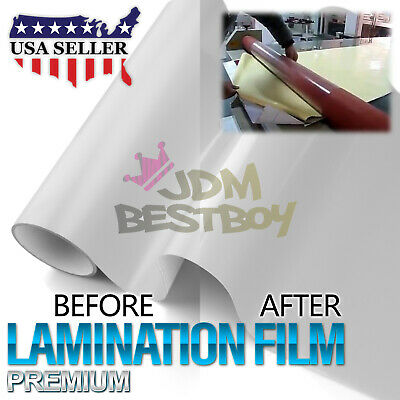 12x60 Cold Laminating Film Glossy Clear Monomeric Lamination Poster Sign Decal