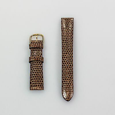 New Van Cleef & Arpels Brown Alligator Strap 14mm x 12mm