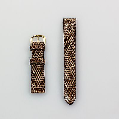 Neu Van Cleef & Arpels Braun Alligator Uhrenarmband  14mm X 12mm