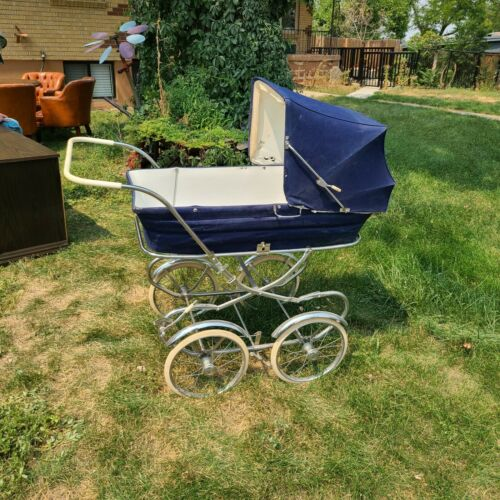 Antique 1920 Scandia Navy Baby Carriage