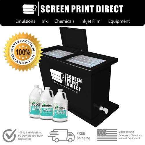 Ecotex® Screen Printing Equipment - 30 Gallon Dip Tank & 2-N-1 Solution