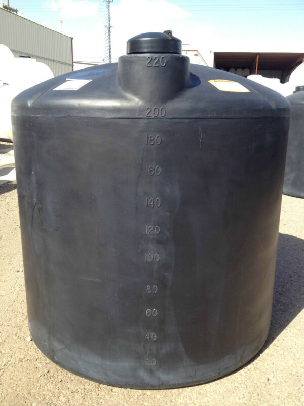 220 Gallon Black Poly Rain Water Harvesting Collecting Tank Norwesco