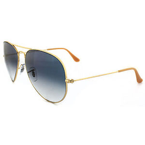 Ray Ban RB3025 Classic Aviator 001 3F Blue Gradient Lens 62mm Gold ... e92447d3df