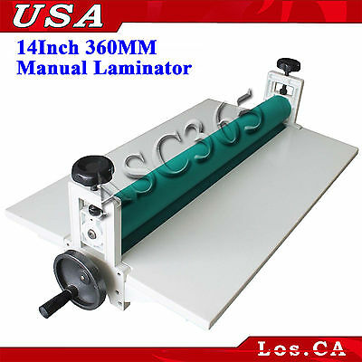 All Metal Roll Laminating Machine Cold Laminator 14in360mm Manual Roller Desktop