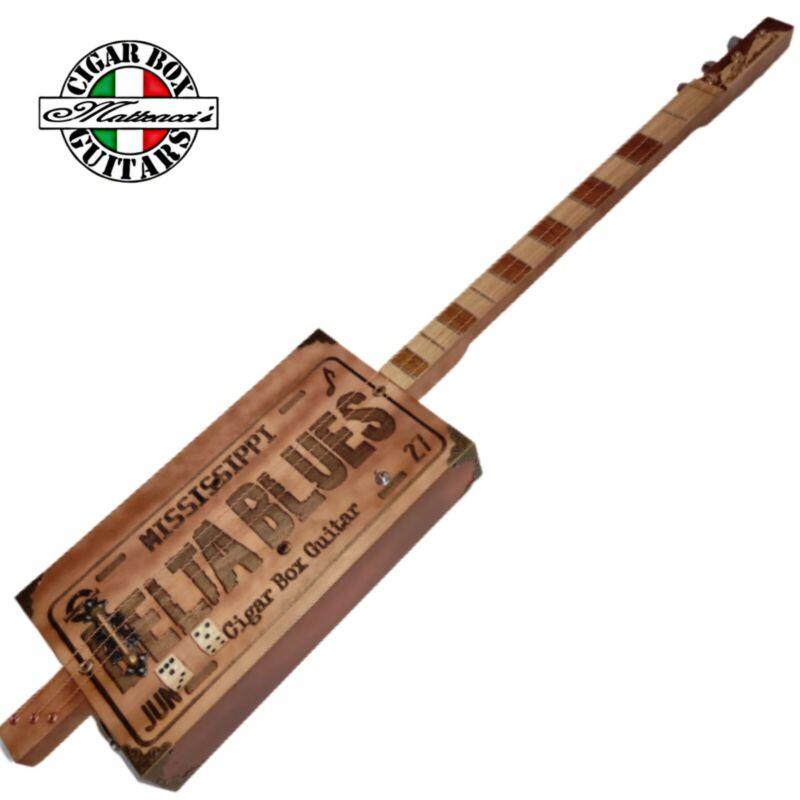 Delta blues 3 Special, Cigar box guitar by  Matteacci's.