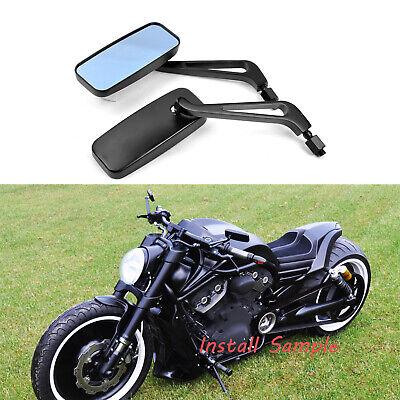 Black Motorcycle Motorbike Tapered Rear Wing Mirrors For Harley Davidson Bobber