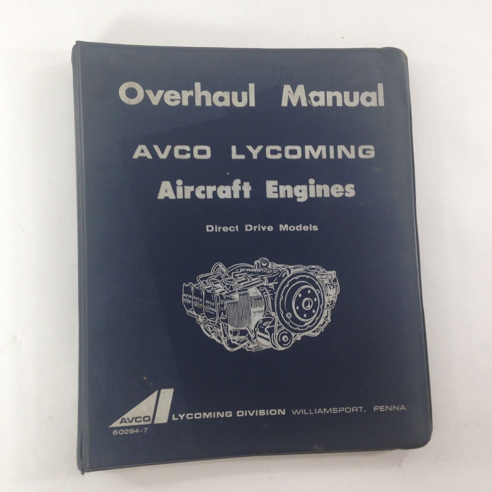 AVCO LYCOMING OVERHAUL MANUAL AIRCRAFT ENGINES 1968