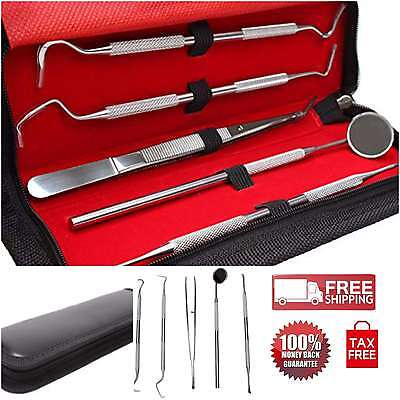 5pcs Dental Hygiene Cleaning Tools Kit Set Oral Care Stainless Tartar Scraper Oy