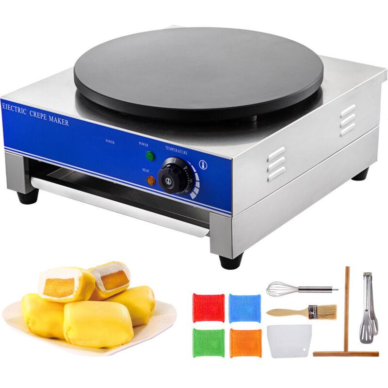 "16""Commercial Electric Crepe Maker Baking Pancake Machine Big Hotplate Non Stick"