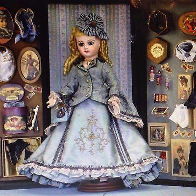 "12"" French Fashion Doll Wardrobe Pattern Dress Jacket Hat Bloomers Corset Bustle"