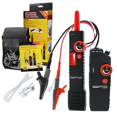 Cable Tracker Underground Detector Tester 400v Ac Wire Locator W Alligator Clip