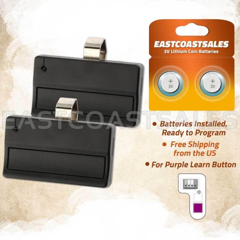 2 For Liftmaster 371AC 371LM 315MHz Garage Door Remote Opener Car Visor Control