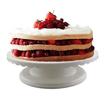 Rotating Cake Stand Revolving Pastry Turntable Platform Dessert Baking Stand](Plastic Cake Stand)