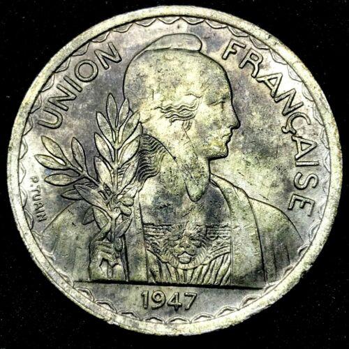 French Indo-China 1947 1 Piastre KM 32.1 Copper-Nickel Rare Coin.