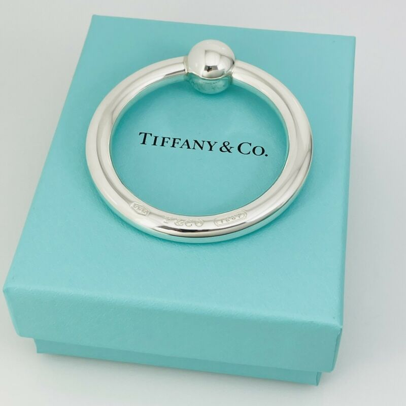 NEW Tiffany & Co Sterling Silver 1837 Baby Rattle