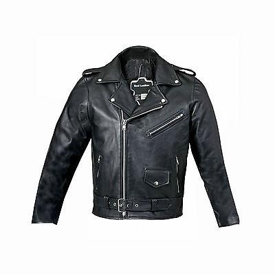 UK New Boys Genuine Leather Jacket Childrens Black Real Biker Style Kids Coat](Kids Boys Leather Jacket)