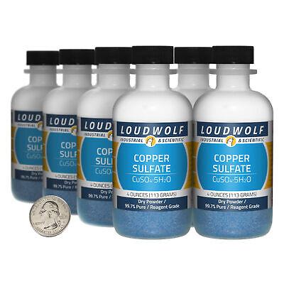 Copper Sulfate 2 Pounds 8 Bottles 99.7 Pure Reagent Grade Dry Powder