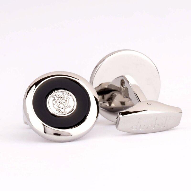 Alfred Dunhill Silver cufflinks Brass Mens jewelry Logo Desiner Cuff links