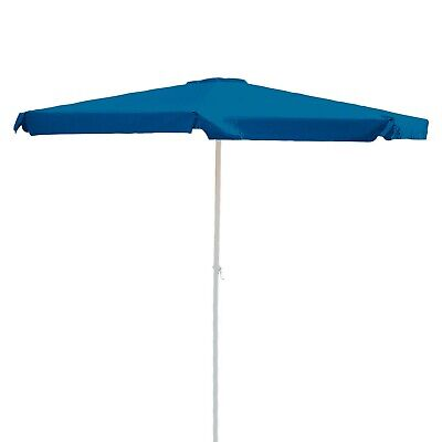 Alu Marktschirm Sonnenschirm 350 cm blau Kurbel Gartenschirm Schirm Sonnenschutz (Markt Sonnenschirm Blau)