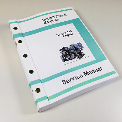 Detroit Diesel Motor Serie (Detroit Diesel Serie 149 Motor 8V 12V 16V Servicehandbuch Geschäft Buch Oh)