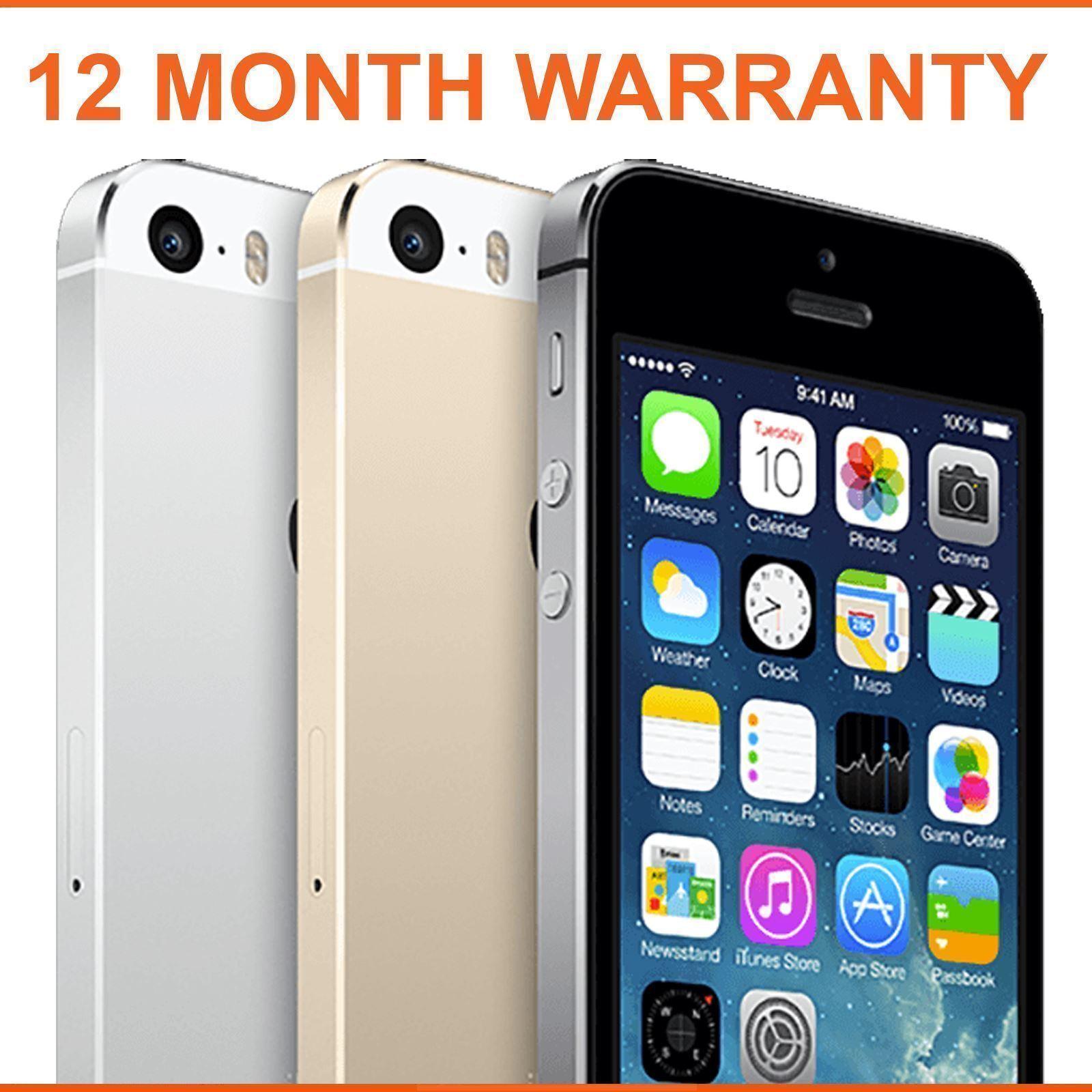 SELLER REFURBISHED APPLE IPHONE 5S 16GB 32GB 64GB SPACE GREY SILVER GOLD UNLOCKED SMARTPHONE