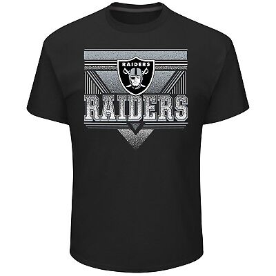 Nfl Oakland Raiders Majestic Mens New Keep Score 2 T Shirt   Black