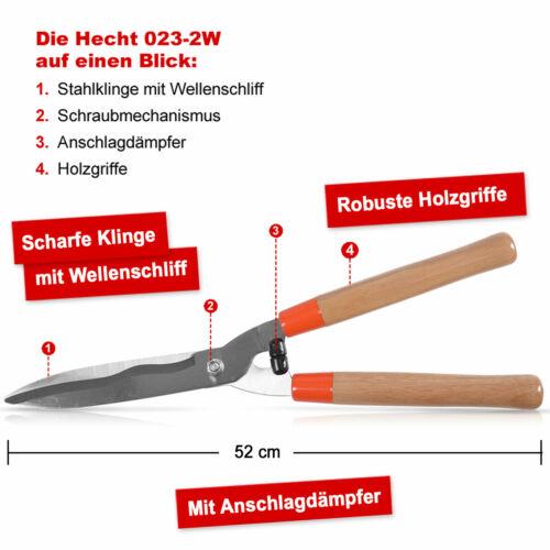 Hand Garten Heckenschere Gartenschere Wellenschliff 620 mm