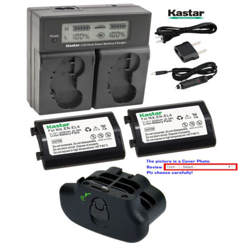 Kastar EN-EL4 Battery Fast Charger for Nikon D2Z D2H D2Hs D2X D2Xs D3 D3S D3X F6