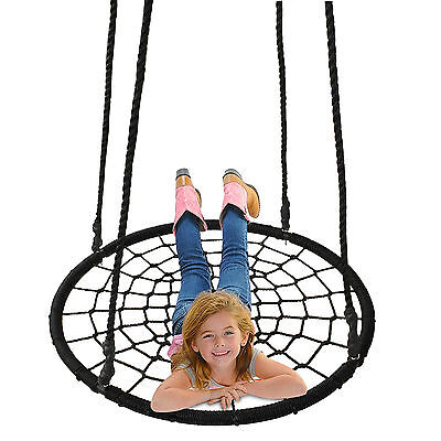 "40"" Tire Spider Web Swing 71"" Nylon Rope Swivel Tree Net Assembled,600 lbs Max"