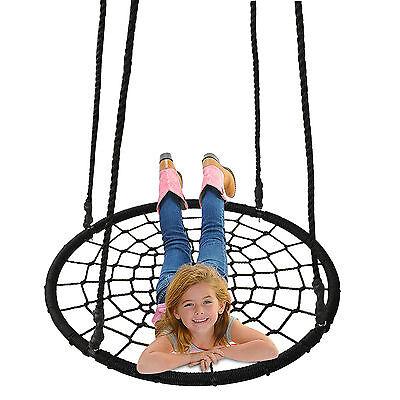 "40"" Tire Spider Web Swing 71"" Nylon Rope Swivel Tree Net Assembled,600 lbs Max"
