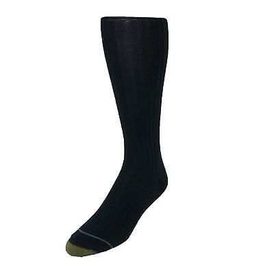 New Gold Toe Men's Mercerized Cotton Over the Calf Dress Socks (Pack of 3) (Mercerized Dress Socks)