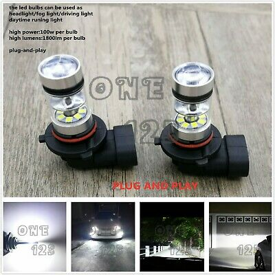2x Super Bright H10 9145 9005 6000K White 55W CREE LED Fog Light Conversion Kit](Led White Lights)