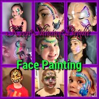 Face painter available.  Painting and glitter tattoos!!