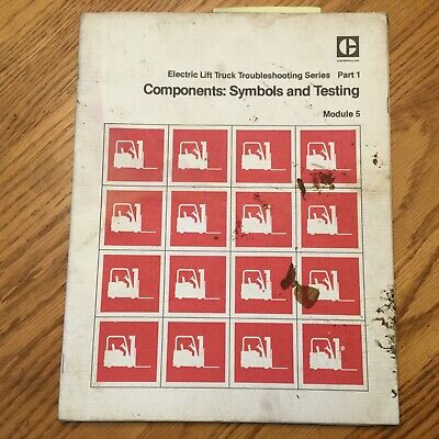 Cat Caterpillar Component Testing Ts Service Manual Electric Fork Lift Truck
