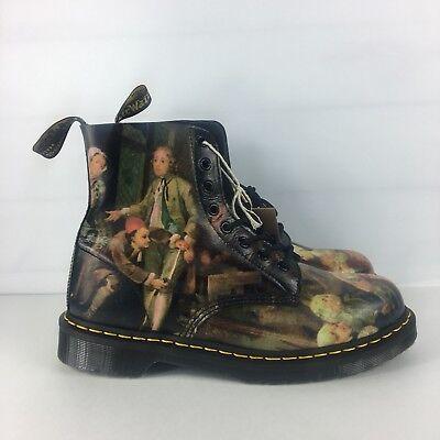 Dr Doc Martens Pascal Hogarth Renaissance Sz 10 Mens Leather Boots Womens 11