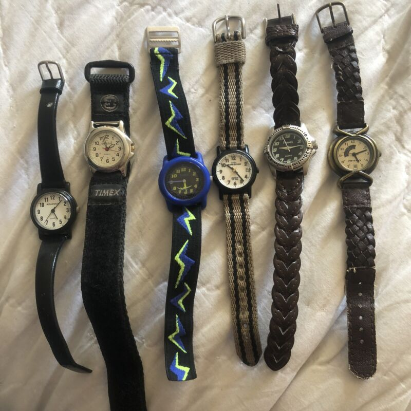 Watch Lot of 6 for Repair or Parts