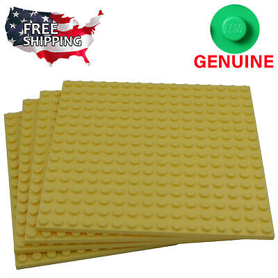 x4 Lego Bright Light Yellow Baseplates Base Plates Brick Building 16 x 16 Dots