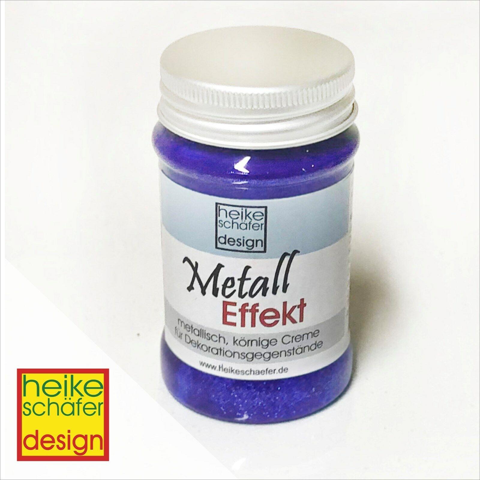 Metall Effekt Creme in Lila 90ml -Neu-  Heike Schäfer Design