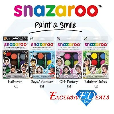 Snazaroo Children's Face Paint Make Up Kits - - Halloween Make Up Kits