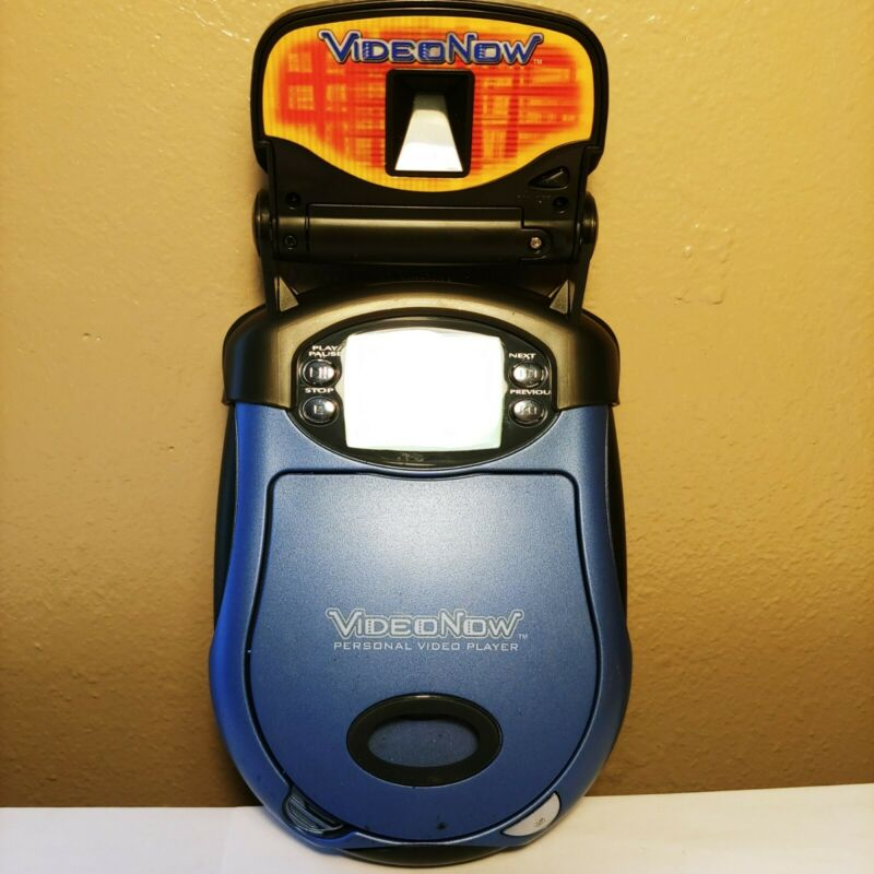 2004 Video Now Color PVD Portable Player Blue Hasbro VideoNow Tested With Light