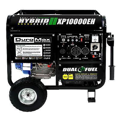 Duromax 10000 Watt Hybrid Dual Fuel Portable Gas Propane Generator   Rv Standby