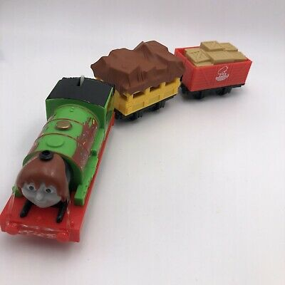 #907 Thomas train Trackmaster Percy's Chocolate Crunch motorized Train Cargo Set
