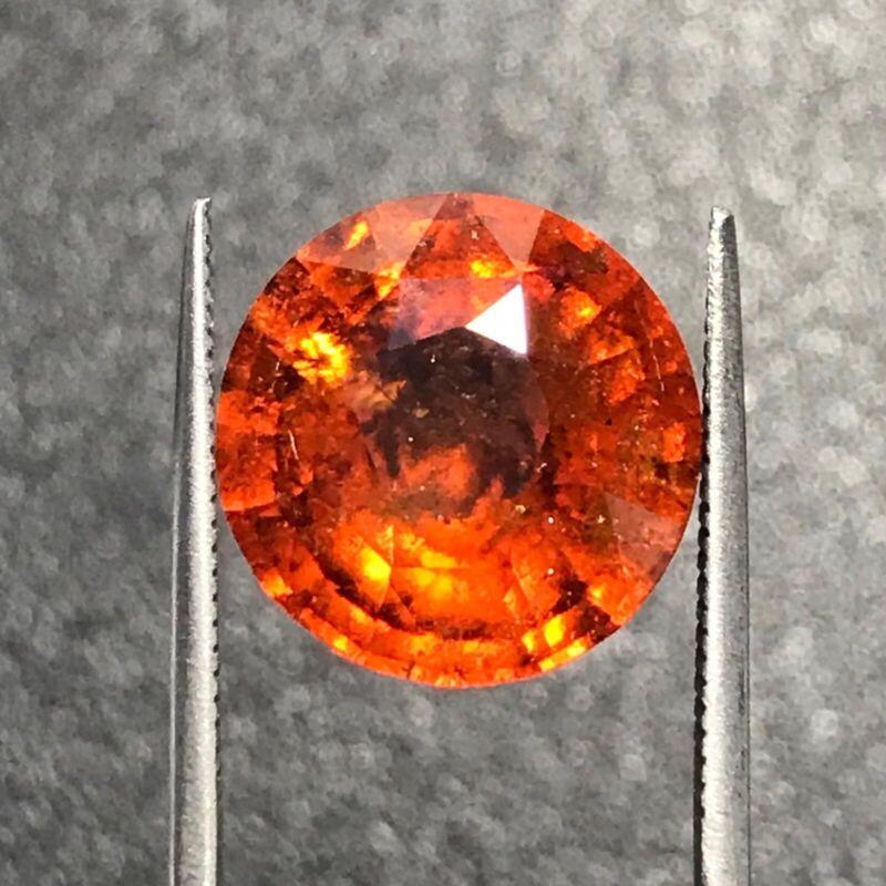 Natural Genuine Hessonite Garnet   10.15 Carats   Loose Gemstone   Sri Lanka