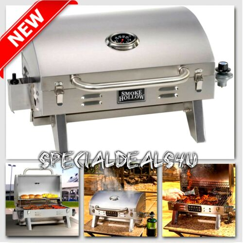 Stainless Steel Propane Gas Grill Portable Table Top BBQ Barbecue Camping Boat N