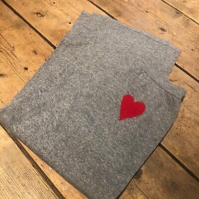 Iphoria Cashmere Grey Flare Tracksuit Bottoms Wide Leg With Red Love Heart