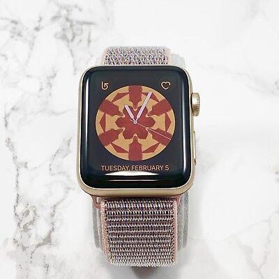 Apple Watch Series 2 42mm Gold Aluminium Pink Sand Nylon Loop GPS