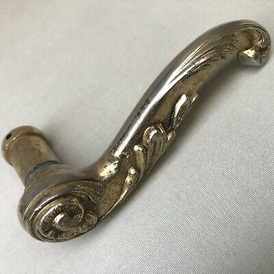 French Vintage Antique Cabinet Handle Heavy Brass Front Door Handle Knob handle oak Early 1900s barn industrial finish knobs large